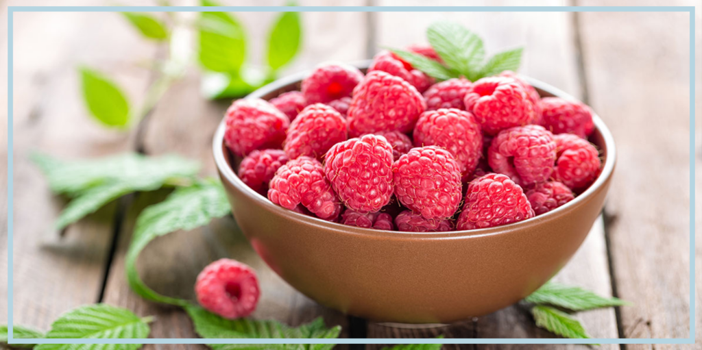 Raspberry Ketone Supplement in bowl for health benefits